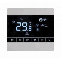 China Programmable Fan Coil Touch Screen Thermostat With Large LCD Screen Display wholesale