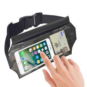China TPU Black Outdoor Waterproof Bag , Custom Waist Bag For Phone Storage on sale