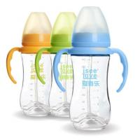 Buy cheap 240ML Unbreakable Glass Baby Sipper Water Bottle Blue Pink Yellow Color from wholesalers