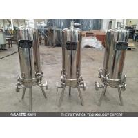 Stainless steel cartridge filter housing with multi cartridge elements