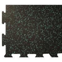 China Rinterlocking Foam Gym Mats Black SBR Particles EPDM Star Points wholesale