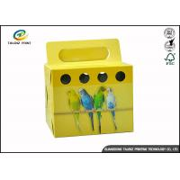 Colorful Printing Cardboard Gift Boxes Foldable Space Saving For Birds
