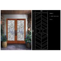 Buy cheap Double Pane Sliding Glass Door Hollow Stained Glass Panels Air / Argon Insulating from wholesalers