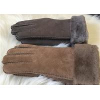 Buy cheap Women sheepskin winter gloves 100% Handmade Real wool lining Gloves Mittens from wholesalers