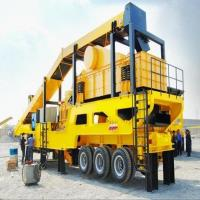 China Rubber - Tyred Mobile Crushing Plant / Vertical Shaft Impact Crusher Trailer Frame wholesale