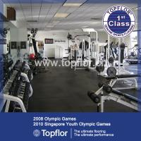 China Gym Rubber Floor Covering Gym Floor Tiles wholesale
