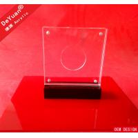 China Acrylic Awards And Plaques Trophy Award Medal With Magnet Coin Insert wholesale