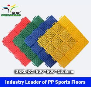 Basketball PP Sport Floors, Interlocked PP Sport Tiles China leading manufacturer