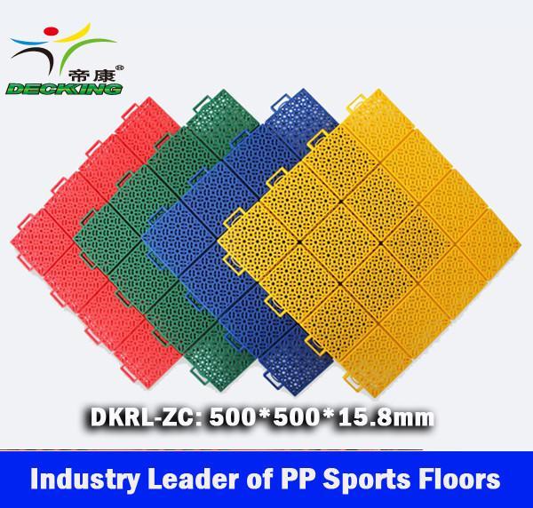Quality Basketball PP Sport Floors, Interlocked PP Sport Tiles China leading manufacturer for sale