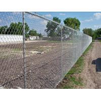 China Low Carbon Iron Wire Metal Chain Link Fence / Baseball Field Fence With Accessories wholesale