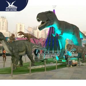 China Outdside Theme Park Realistic Dinosaur Models / Life Like Garden Animals on sale