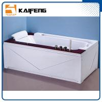 China Luxury Single Jacuzzi Tub Air Jet Bathtub With Oak Wood Bead Computer Controller wholesale