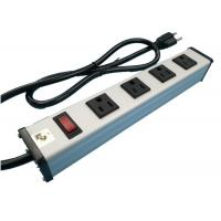 China Metal 4 Way Multi Outlet Power Strip With On Off Switch For Workshop / Office wholesale