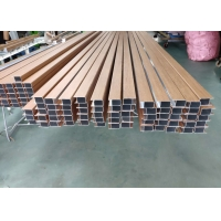 China Pvc Wood Film 6063 T5 Aluminum Square Tube Stock wholesale