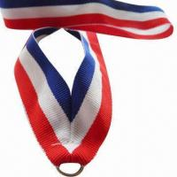 China Neck Lanyard Medal Ribbon for Sports Trade Show Giveaway, Comes in Three Colors with Logo wholesale