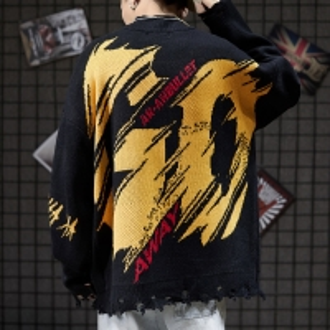 China Plus Size Ripped Crewneck Pullover Sweatshirt Frayed Trim wholesale
