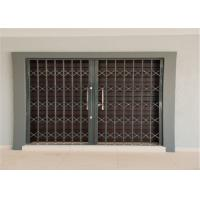 China Thickness 2.0mm 6063 Aluminium Security Doors And Windows With Sand Blasting wholesale