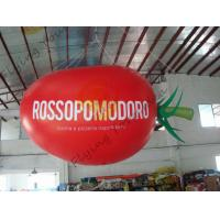 China 4m Long Plum Tomato Shaped Balloons For Haning / Pop Display / Event Show wholesale