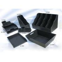 China Black Plastic Packing Gift Boxes Handmade With Logo Hot Stamping wholesale