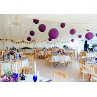 China Luxury Wedding Tents Aluminum Profile Lining Deco Different Desk and Table Options wholesale