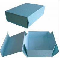 China Light Blue Folding Gift Boxes With 4 Color Printing, Matte Lamination 11 * 7 * 5 Inch wholesale