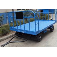 China Stable Airport Luggage Carts , Cargo Dolly Trailer 3 mm Faceplate Steel Plate wholesale