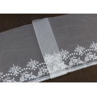 Buy cheap Vintage Embroidered Floral Nylon Mesh Lace Trims Gauze Tulle For Dresses Borders from wholesalers