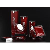 Quality The bottle is red with a square bottle Material PMMA Empty Makeup Containers for sale