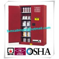 China Vertical Combustible Paint Storage Cabinets With Adjustable Horizontal Shelves wholesale