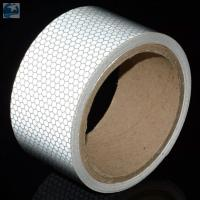 China Light 2 Inch White Reflective Tape For VehiclesDOT C2 Glass Beads Pressure Sensitive Type wholesale