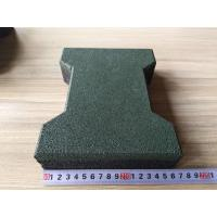 China Colorful wear resistant dog-bone outdoor rubber floor tiles for path pavers wholesale
