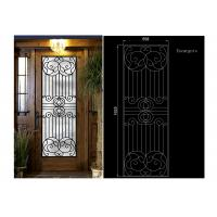 China Mosaic Classical Wrought Iron Glass Agon Filled 15.5*39.37 Size Oval Shaped wholesale