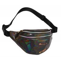 Buy cheap Fashion Waist Pack Holographic Waist Bag Large Fanny Belt Laser Leather Design from wholesalers