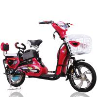 """China 16"""" Red 350W Adult Electric Bike Electric Powered Bicycle 35Km-45Km Distance Range wholesale"""