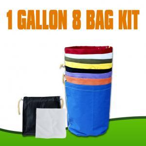 China Nylon Extractor herbal 1 gallon 8 kits bubble hash bag  wholesale
