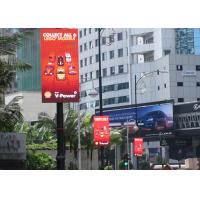 China 55 Inch Iphone Series P6 Outdoor Advertising Led Display Video Street Lighting Pole Open Sign wholesale