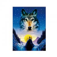 China Animal 3D Lenticular Pictures For Office Decoration / 3D Wolf Picture wholesale