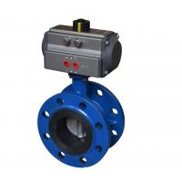 Buy cheap Flange Connection Ball Valve Pneumatic Actuator Aluminium Alloy Material CE Approved from wholesalers