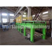 China PU Shutter Door Frame Roll Forming Machine Double Belt Aluminum Coil Plate on sale