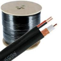 Buy cheap 95% CCA Braid CCTV RG59 Coaxial Cable 20 AWG BC Conductor Foamed PE Siamese from wholesalers