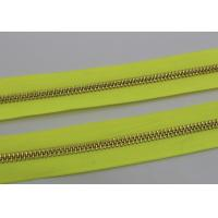 Quality 26 Inch Open Ended Long Chain Zipper Bright Tape Golden Metal Teeth For Bag And Garments for sale