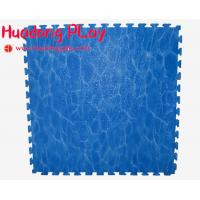 China Blue Outdoor Rubber Flooring , EVA Playground Safety Mats Soft Touch wholesale