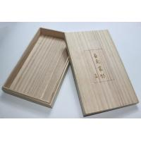 Lightweight Personalised Engraved Wooden Box , Paulownia Wooden Tea Bag Storage Box With Custom Logo