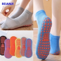 China oem apparel manufacturers Pure Cotton Adult Thin Trampoline Anti Slip Socks For Children wholesale