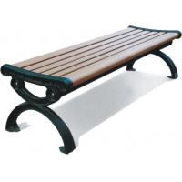 China Park Outdoor Site Amenities Rustic Appearance , Square Leisure Bench With Backrest wholesale