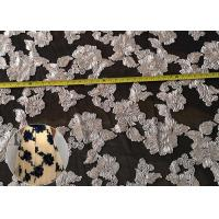 Buy cheap Chenille Embroidered Floral Lace Fabric French Rope Embroidery Mesh Dress Fabric from wholesalers