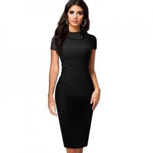 China Washed Denim Turtleneck Womens Casual Dresses 80% Nylon 20% Spandex wholesale