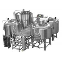 China Manual or Semi-automatic 4 Vessel Brewhouse Mirror Polishing Beer Making Equipment on sale