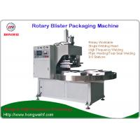 China Semi Automatic Rotary Blister Packing Machine  by High Frequency Welding For Big size  blister Pack wholesale