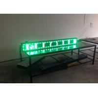 China High Brightness Trivision LED Text Display / outdoor led message boards P10 Single Green wholesale